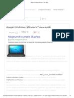 Apagar (Shutdown) Windows 7 Más Rápido