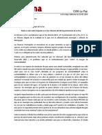 Boletín Morena -La Paz 02-05-2014