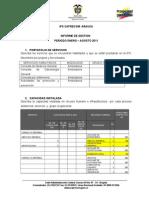Informes Ips Caprecom Arauca Enero-Agosto 2011