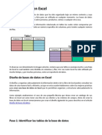 Base de Datos en Excel