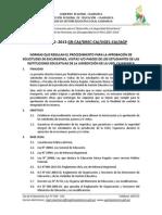 Directiva Excursiones Ugel Cajamarca