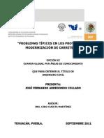 Problemas Tipicos en Los Proyectos de Modernizacion de Carreteras (DEFINITIVO)