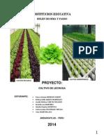 Proyecto Cultivo de Lechugas BOP 2014 INDICE