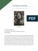 Exploring the Irrational and the Paranoiac-critical Method of Salvador Dali