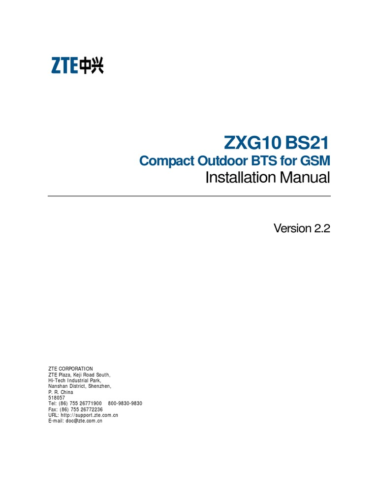 Zte bts engineering quality check manual for bts site english v1. 1.