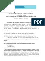 Convocatoria Elecciones 2014 Español Atualizada