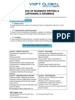 Syllabus Writing Grammar Telephone