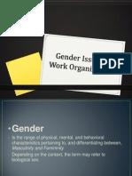 Gender Issues in Work Organizations