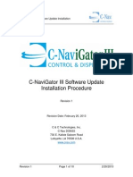 CNAV-MAN-009.1 (C-NaviGator III Software Update Installation Procedure)