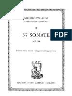 Paganini - 37 Sonate Per Chitarra