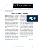 Rating of Dental Schools