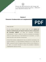 Elementos Fdmtales en La Implementacion Del Sarlaft