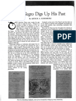 Schomburg, Arthur - The Negro Digs Up His Past