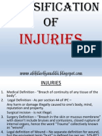 Classification of Injuries
