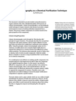 column chromatography as a chemical purification technique  final