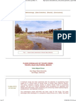 Arroyo Tecate, Tecate Creek, Flood Hydraulics, Water-surface Profiles, Victor M. Ponce