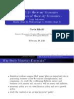 Week 1 Update Foundations of Monetary Economics