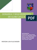 Demanda y Requerimiento de Cloro-1