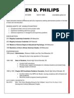 karen d philips resume program development