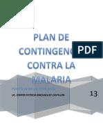 Plan de Contingencia Malaria 28 de Julio