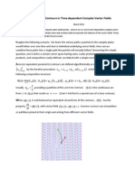 A Space of Siamese Contours in Time-dependent Complex Vector Fields