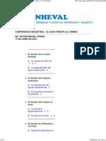 Conferencia Magistral, IV Congreso Nacional Del Agua, 13-14 de Junio de 2013, Universidad Nacional Agraria La Molina, Lima, Per