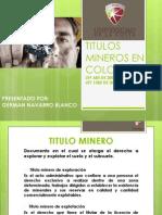 Titulos Mineros en Colombia