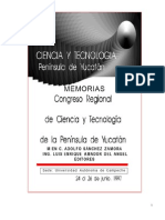 Memorias Cong Reg Cienc y Tec Peninsula de Yucatan