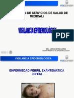 Enfermedad Febril Exantematica. 2014