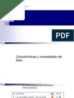 Características y Necesidades Del Niño .01