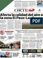 Periódico Norte de Ciudad Juárez edición impresa del 3 mayo del 2014