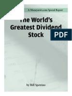 Bill Spetrino - The World's Greatest Dividend Stock