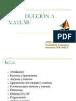 Introduccion a La Programacion en Matlab 3ra Clase