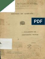 Reglamento Cartografia Militar_servicio en Campaña_1934