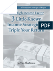 3 Little-Known Income Strategies to Triple Your Return