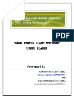 Reneweable Energy - Wind Blade Less Mill