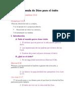 La Formula de Dios Para El Exito