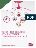 SNCF Des services pour voyager sereinement cet été