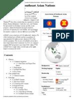 Association of Southeast Asian Nations - Wikipedia, The Free Encyclopedia