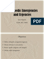 Orthopedic Emergencies and Urgen Cies