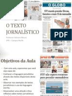 o Texto Jornalístico