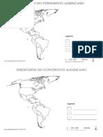 Continente Americano- Subdivisões