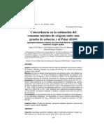 31 2009 Concordancia en La Estimación Del Onsumo Máximo de Oxígeno Entre Una Prueba de Esfuerzo y El Polar s810