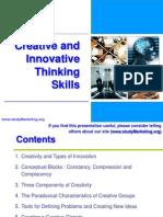 Creative and Innovative Thinking Skills.