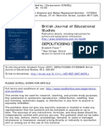 Frazer (2007) Depoliticising Citizenship
