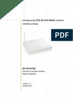 ZTE ZX V10 W300 Wireless Pristup2
