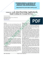 IJIRSM Ahmed Hassan El Zihebi Analytic Study About Knowledge Application in Saudi Arabian for Ground Services