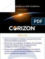 D-2B Diabetes Guidelines for Corrections