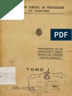 Reglamento de Organizacion y Preparacion Del Terreno Para El Combate_t1_1927