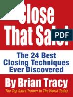 Brian Tracy - CloseThatSale